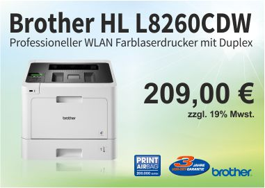 Brother Farblaserdrucker HL-L8260CDW