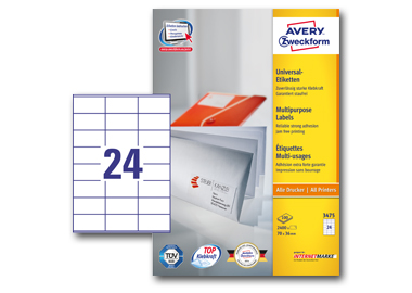 Avery Zweckform Universaletikett  70 x 36 mm (B x H)