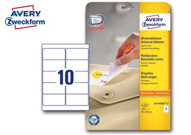 Avery Zweckform Etikett