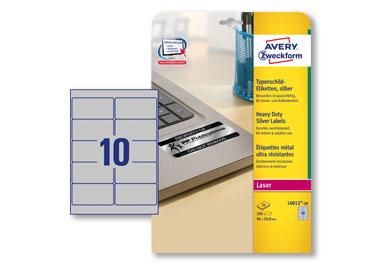 Avery Zweckform Typenschildetikett 96 x 50,8 mm (B x H)