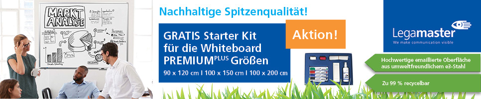 Legamaster Whiteboard Premium Plus + Starter Kit