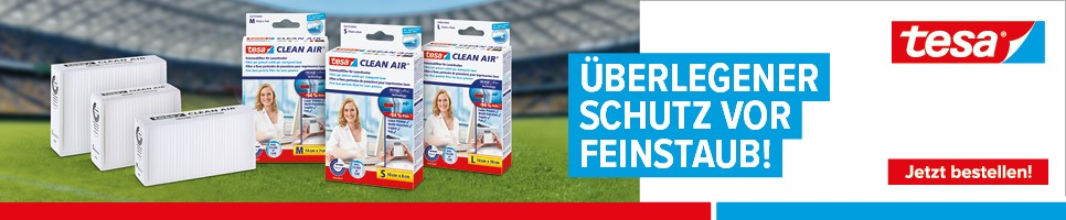 tesa® Feinstaubfilter Clean Air®