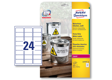 Avery Zweckform Folienetikett 63,5 x 33,9 mm (B x H)